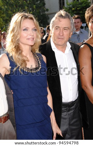 "Michelle Pfeiffer & Robert De Niro at the Los Angeles premiere of ""Stardust"" at Paramount Studios, Hollywood. July 30, 2007  Los Angeles, CA Picture: Paul Smith / Featureflash - stock photo"