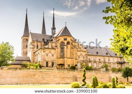 Michelsberg Abbey (Kloster Michelsberg) in Bamberg - stock photo