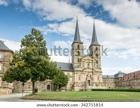 Michelsberg Abbey (Kloster Michelsberg) in Bamberg - stock photo