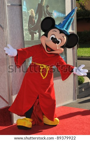 "Mickey Mouse at a benefit screening for ""The Sorcerer's Apprentice"" at Walt Disney Studios. July 12, 2010  Burbank, CA Picture: Paul Smith / Featureflash - stock photo"