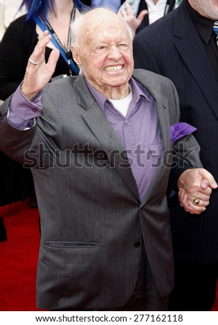 Mickey Rooney at the 2012 TCM Classic Film Festival Gala Screening of 'Cabaret' held at the Grauman's Chinese Theater in Hollywood on April 12, 2012.
