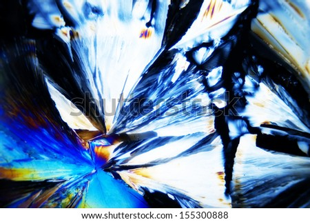 Micro Crystals in polarized Light - stock photo