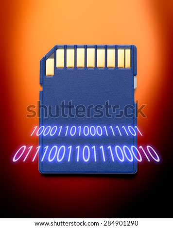 Micro memory card for camera in blur numbers