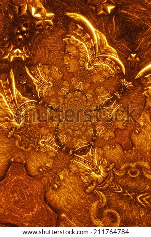 Micro Photo of a Gold Coin - stock photo