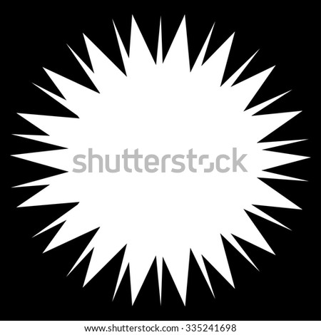 Microbe Spore glyph icon. Style is flat symbol, white color, rounded angles, black background.