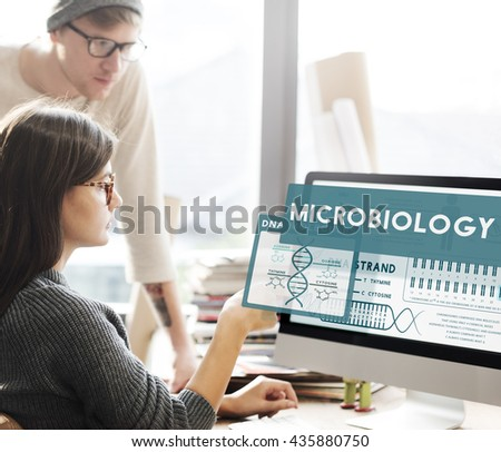 MicroBiology Bacteria Disease Illness Laboratory Concept - stock photo