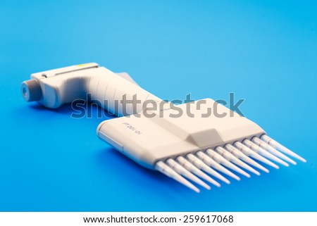 microbiology multi pipette - stock photo