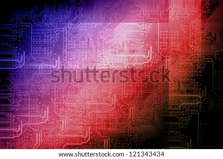 Microchip background - technology concept - stock photo