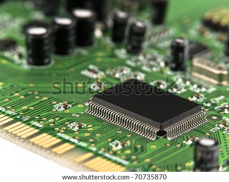 Microchip on printed circuit board (PCB)