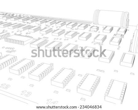 microcircuit elements - stock photo