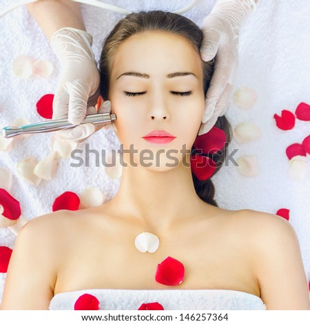 Microdermabrasion treatment - stock photo