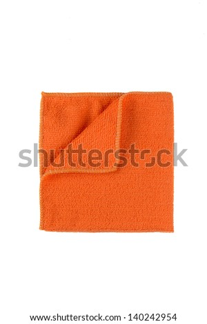 Microfiber cleaning towel over white background - stock photo