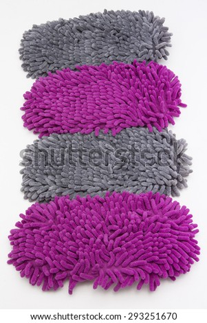 microfiber duster as hair isolated on white - stock photo