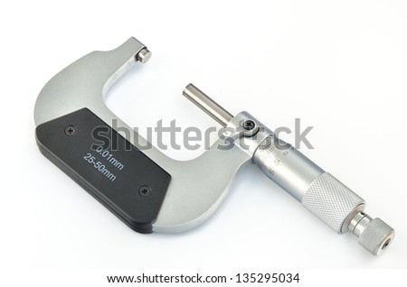 Micrometer isolated on a white background - stock photo
