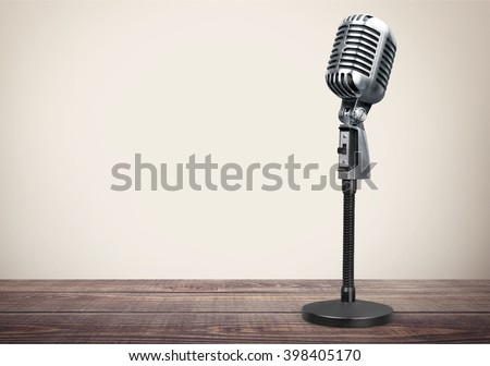 Microphone. - stock photo