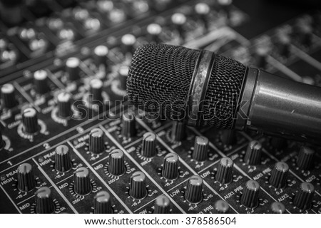 microphone and audio mixer background