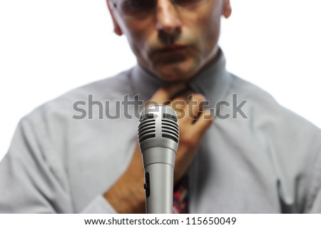 microphone  and out of focus Public speaker