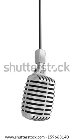 Microphone (clipping path included) - stock photo