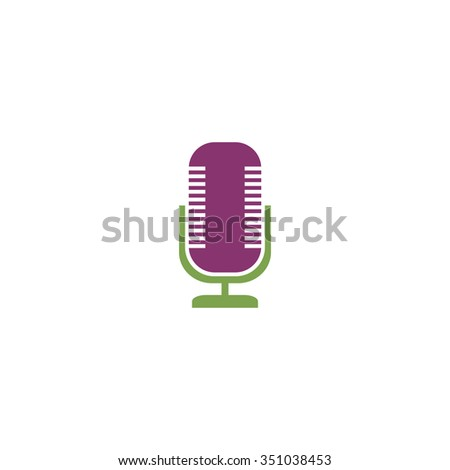 Microphone. Colorful pictogram symbol on white background. Simple icon
