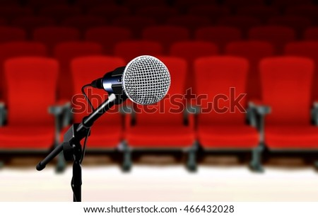 Microphone during seminar presentation