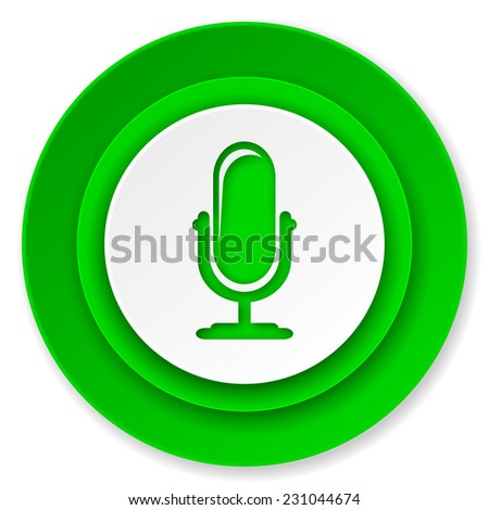 microphone icon, podcast sign  - stock photo