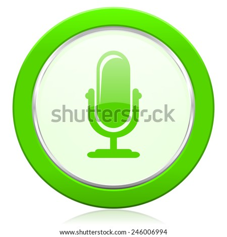 microphone icon podcast sign  - stock photo