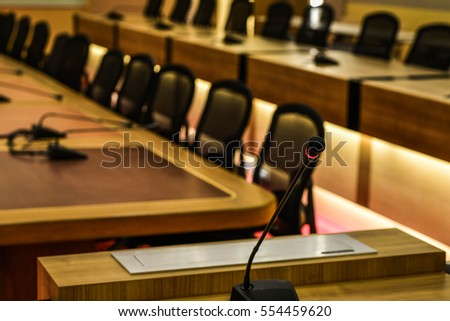 microphone in a Boardroom