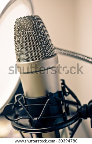 Microphone in metal.