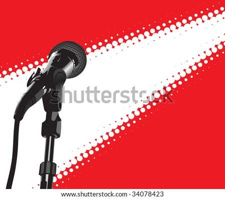 Microphone In Spotlight (in the gallery also available vector version of this image)