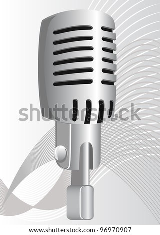 microphone in the old style