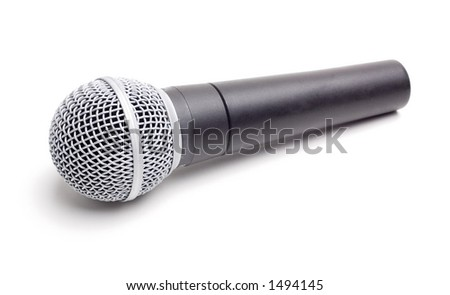 Microphone - Isolated on White - stock photo
