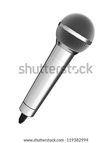 Microphone - isolated on white background - stock photo