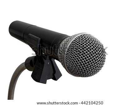microphone isolated on white background, clipping path