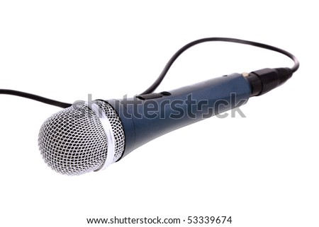 Microphone isolated over white. - stock photo