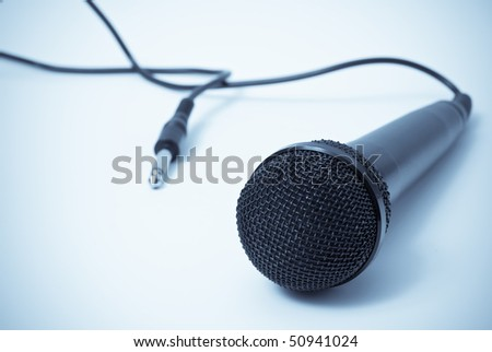 Microphone Musical Industry Concept - stock photo