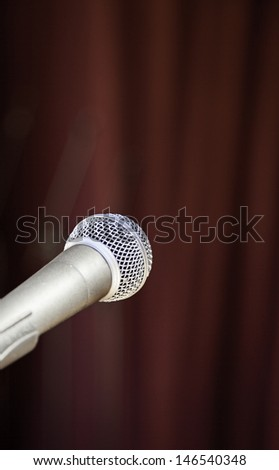 Microphone on a show, detail of a sound instrument, show and concert