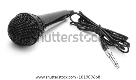 Microphone. On a white background. - stock photo