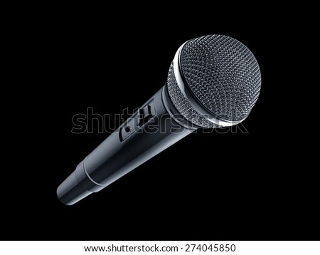 microphone on black background