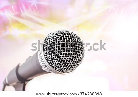microphone on stage baclground