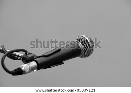 Microphone on the stand in stage