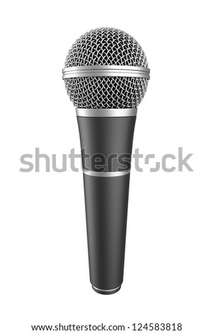 Microphone on white background. Computer generated image. - stock photo