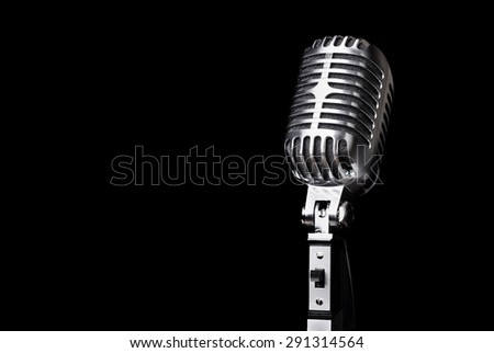 Microphone, Retro Revival, Jazz. - stock photo