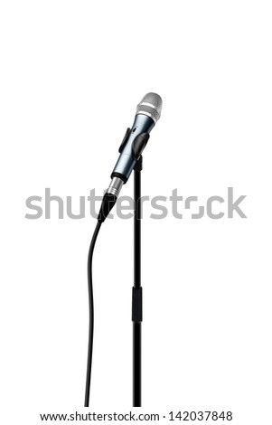 Microphone standing facing inwards - stock photo