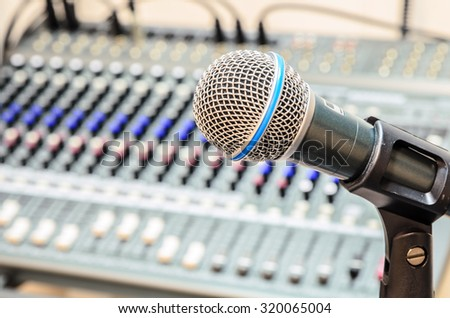 microphone with audio mixer, music equipment