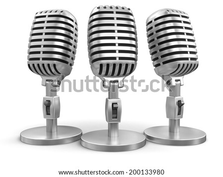 Microphones (clipping path included) - stock photo