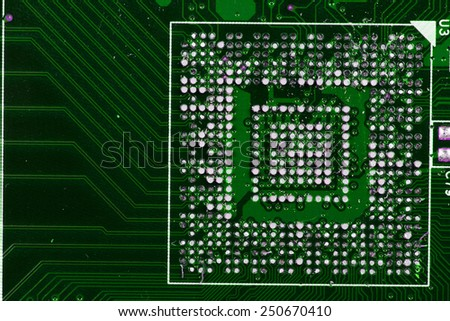 microprocessor background - stock photo