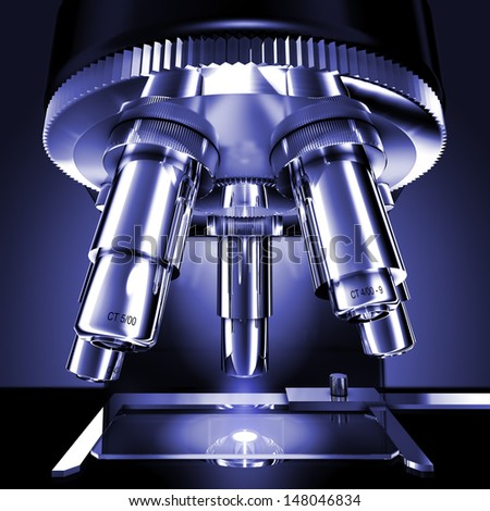 microscope - stock photo
