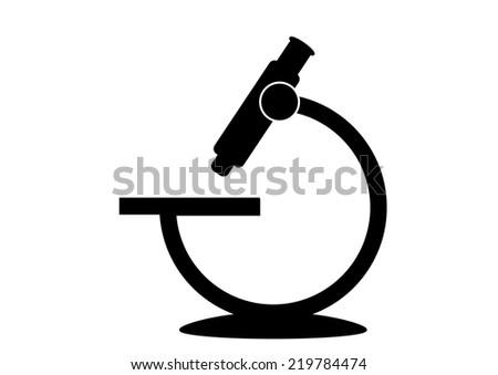 Microscope Icon - stock photo