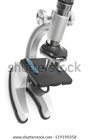Microscope isolated on white background
