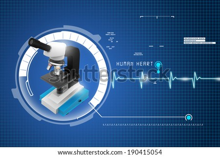 microscope on abstract background - stock photo
